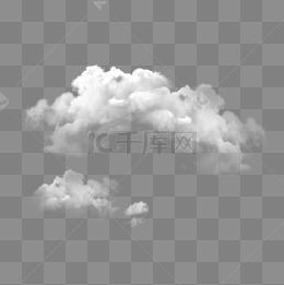 白色天氣雲朵裝飾素材