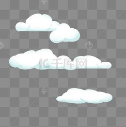 雲朵白雲卡通天空