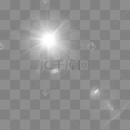 白色創意光效元素