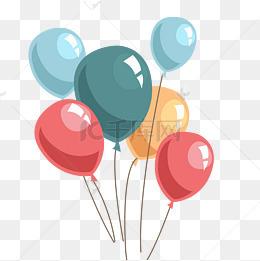 彩色氣球免摳圖