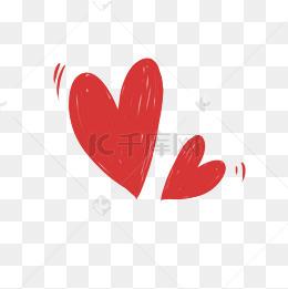 紅色愛心可愛