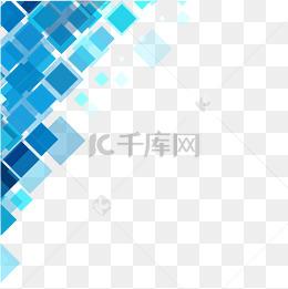 藍色幾何科技背景
