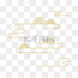 中國風雲紋圖案裝飾