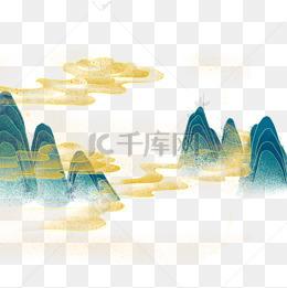 國潮中國風山水