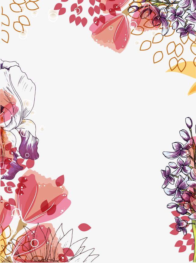 花纹底纹 花卉