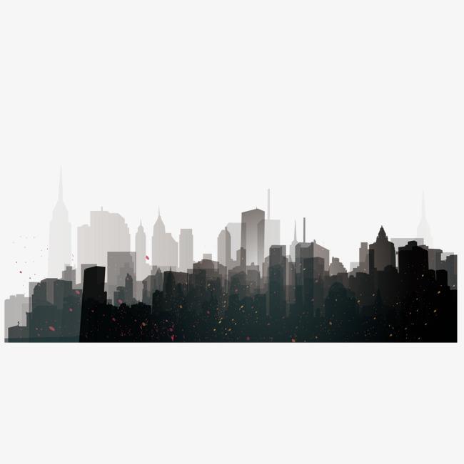 水墨城市建筑