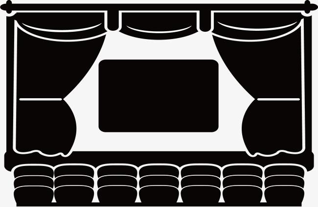 黑色概念剧场矢量