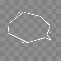 簡約白色氣泡對話框