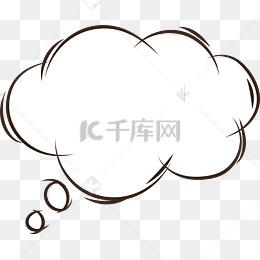 思考氣泡對話框
