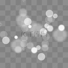 白色燈光效果元素
