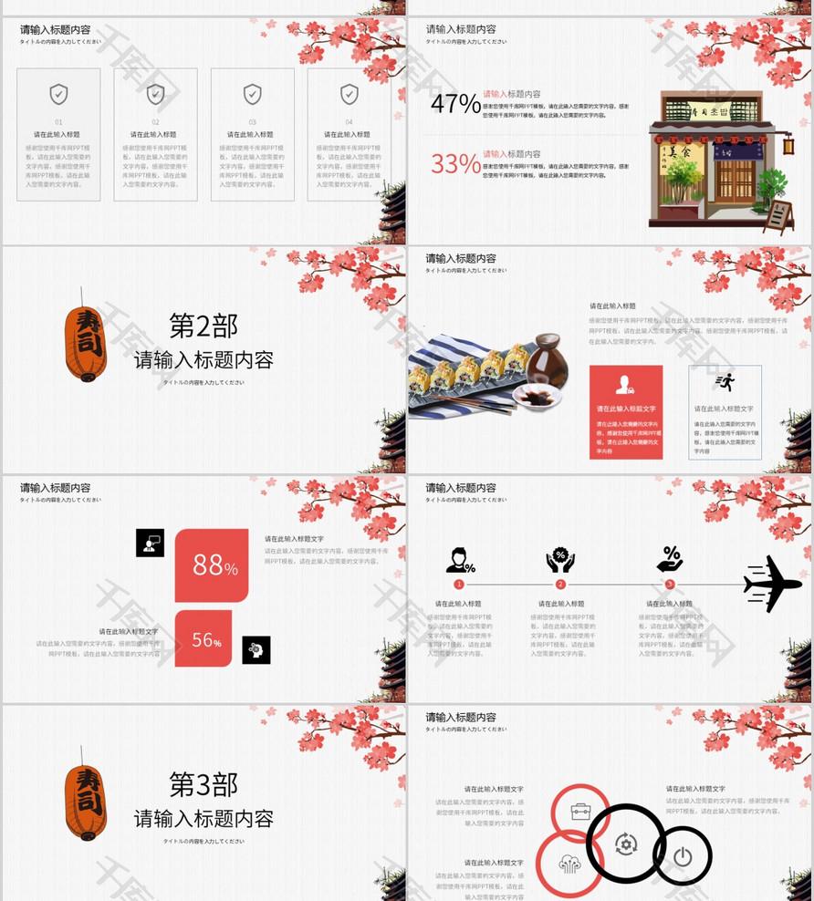 日式美食模板介绍PPT产品做野外的美食图片