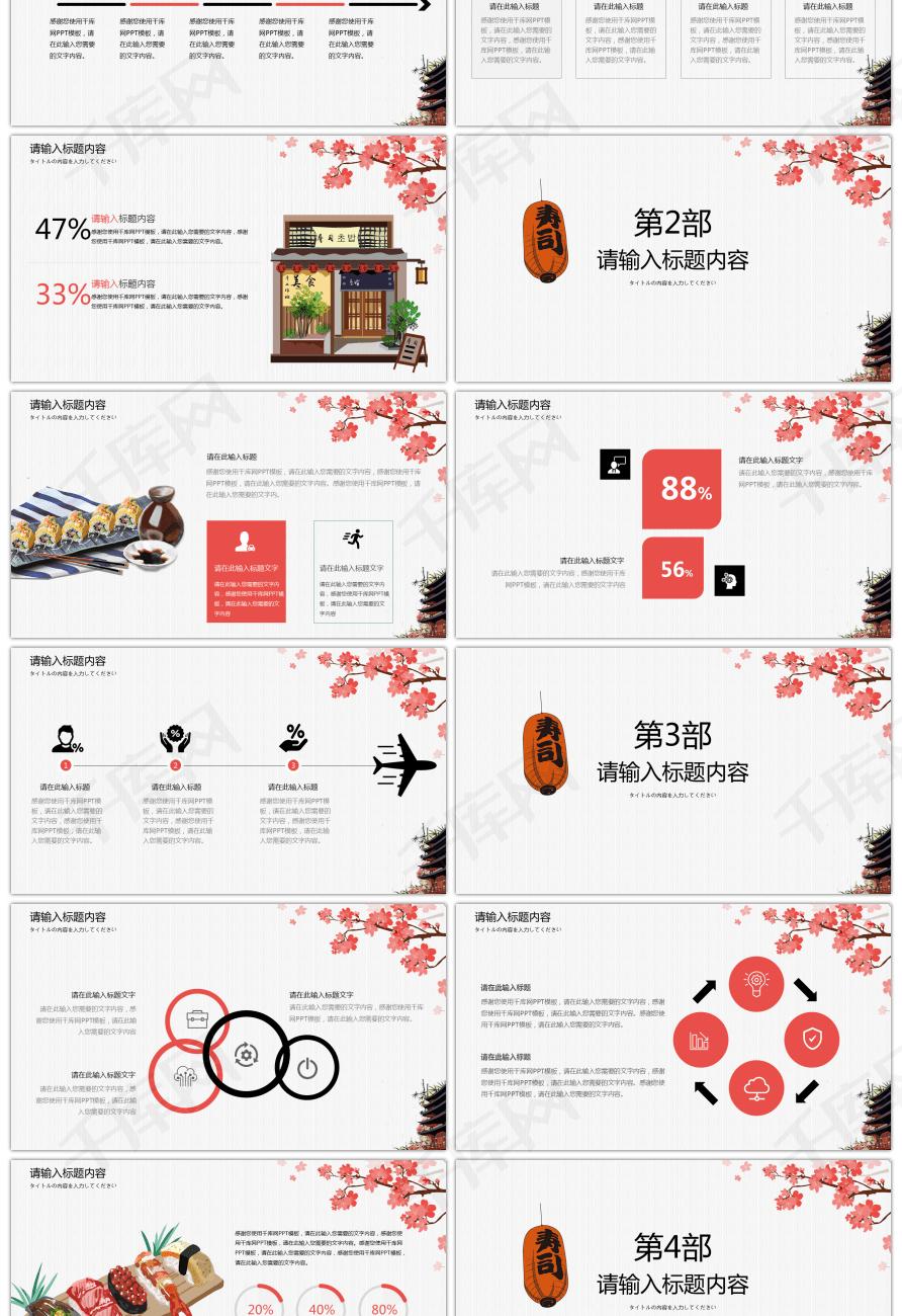 日式产品模板介绍PPT美食美食柏高酒店附近广州图片