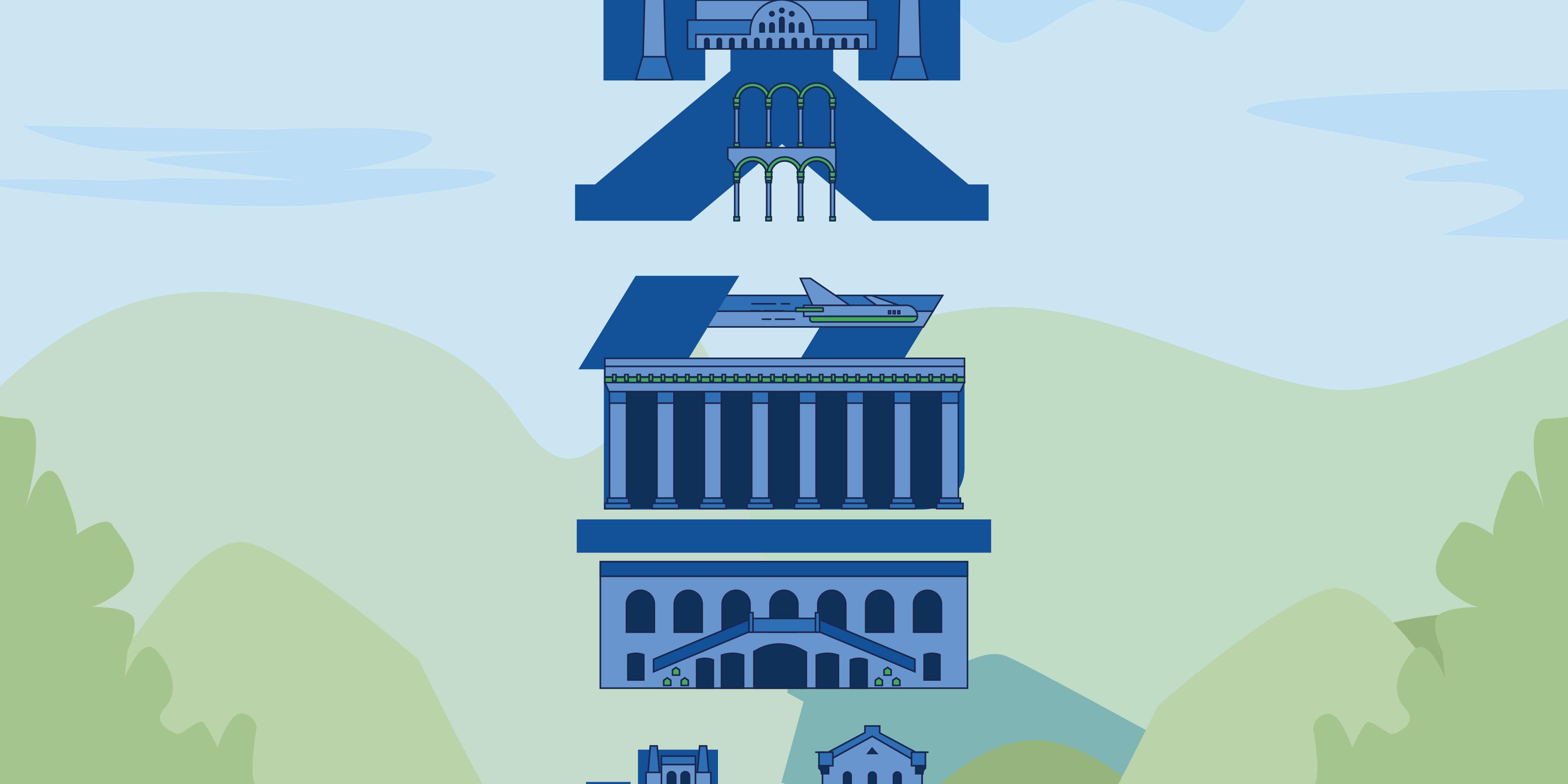 旅游风格主题系字融画行业旅游蓝色贝鲁特旅游wps中绘制的图形不显示不出来图片