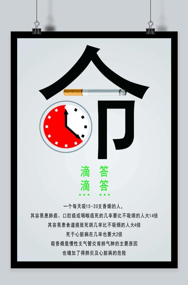 禁止吸烟标志创意可爱