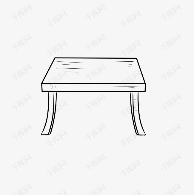 圆桌子简笔画素材图片免费下载 千库网