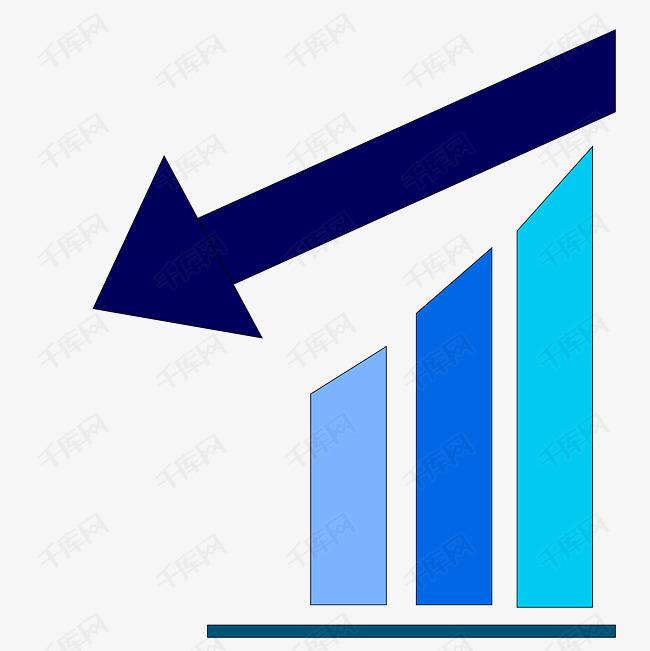 务科技箭头股票走向走线-矢量数据分析图素材图片免费下载 高清psd