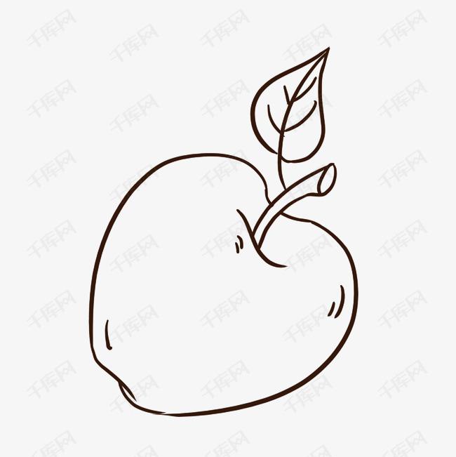 简笔画苹果素材图片免费下载 千库网
