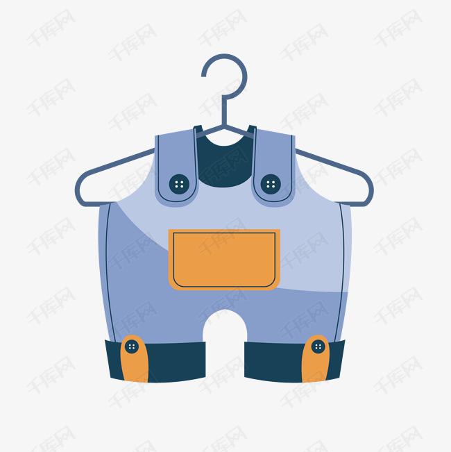 矢量图儿童背带裤素材图片免费下载 千库网