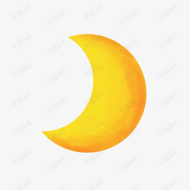 黄色可爱日系卡通月亮图片
