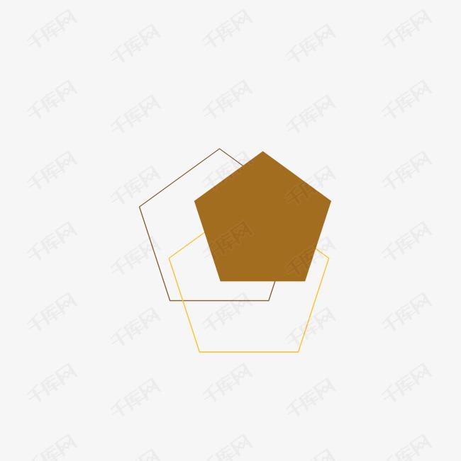 手绘五边形素材图片免费下载 高清psd 千库网 图片编号9202306
