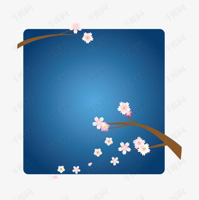 矢量手绘樱花标签素材图片免费下载 高清装饰图案psd 千库网 图片编号7739796