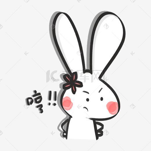 表情兔子开心表情动态群主qq了白色包图疯图片