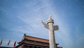 天安门城楼华表高清图片