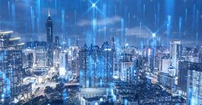 科技城市建筑背景