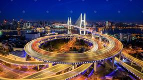 上海杨浦大桥夜景