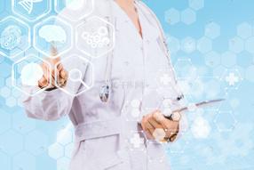 医疗海报人像合成攝影圖