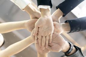 商务团队合作鼓励加油