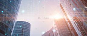 创意合成信息城市大气商务背景
