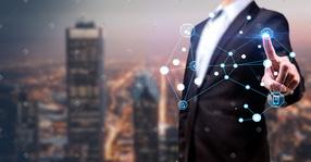 城市科技商务电子金融背景