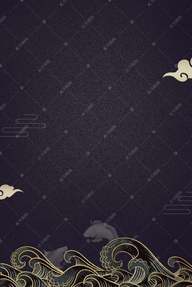 大气纹理线条边框背景图片免费下载 千库网
