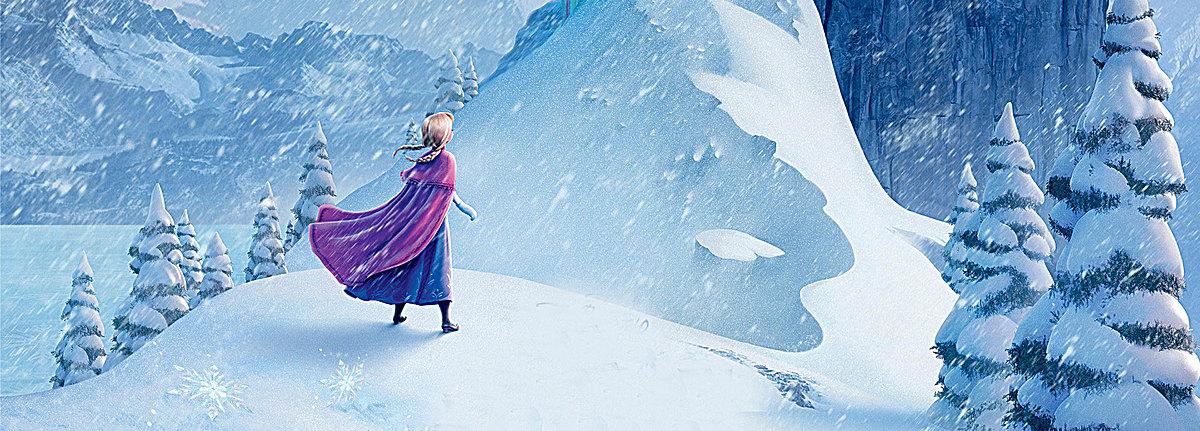 冬忙雪山雪景背景bannerpsd素材-90设计