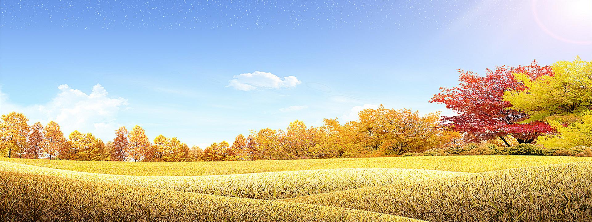 90设计提供秋季风景背景设计素材下载,高清psd格式.