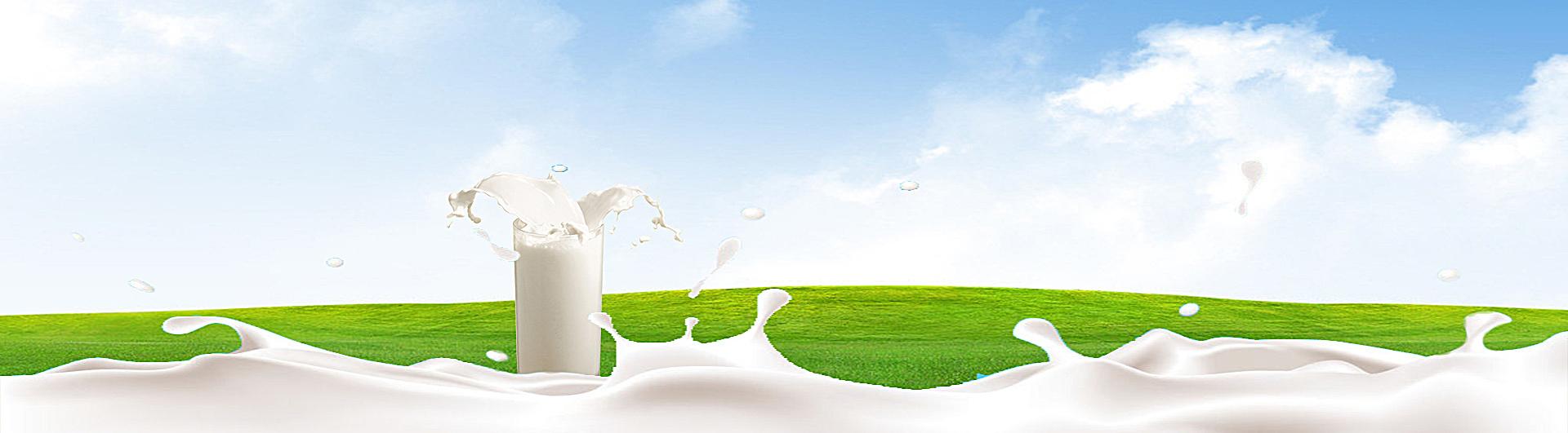 90设计提供电商牛奶乳制品飞溅清新背景banner设计素材下载,高清psd格