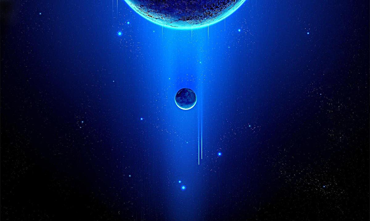 蓝色科技星球banner背景模板psd分层图片背景素材免费
