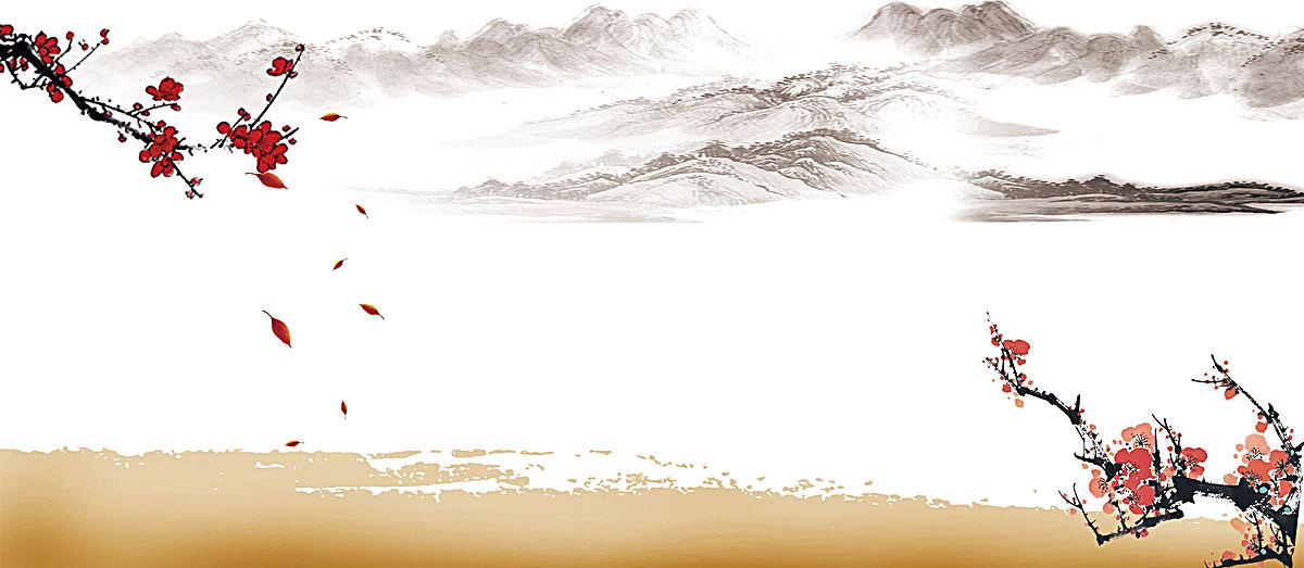 海报背景_水墨古典背景psd素材-90设计