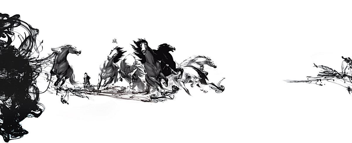 海报背景_水墨画背景psd素材-90设计图片