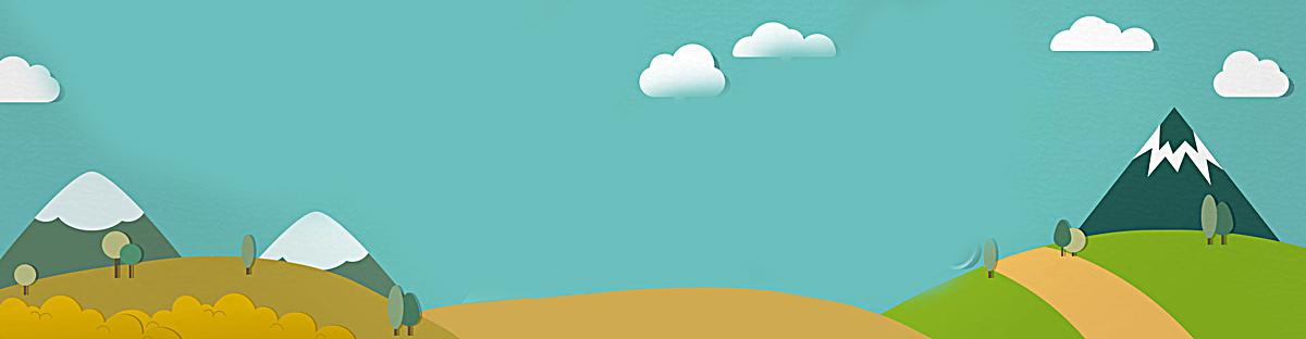 扁平式山丘背景banner设计图片背景素材免费下载