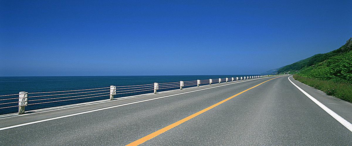 公路素材_海边公路背景jpg素材-90设计