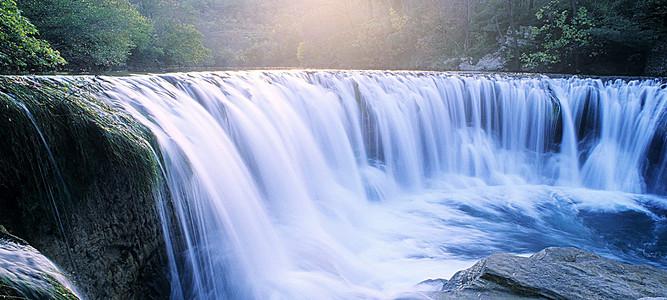 小瀑布背景素材 小瀑布高清背景下载 千库网