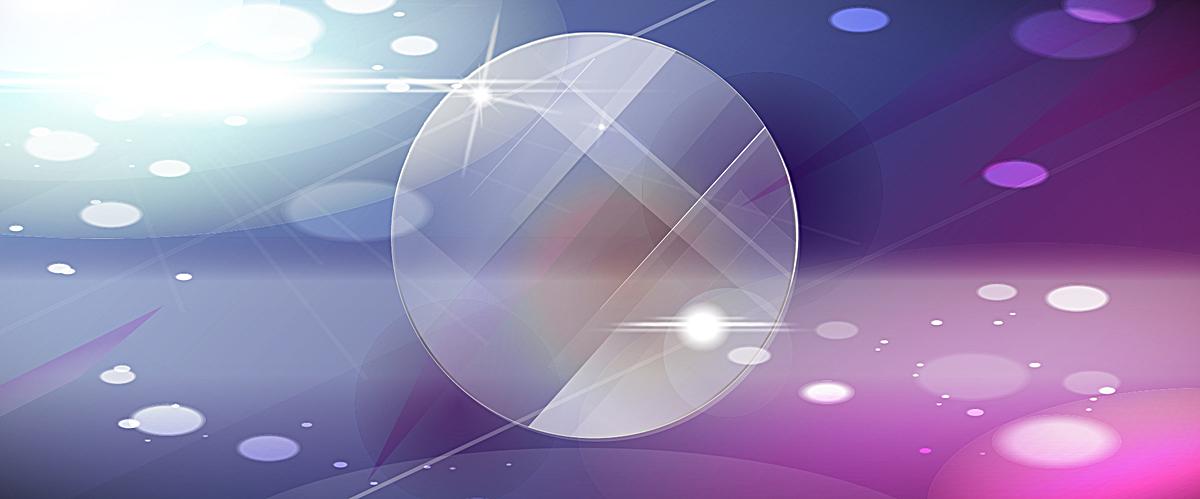 圆形玻璃质感光晕jpg素材-90设计