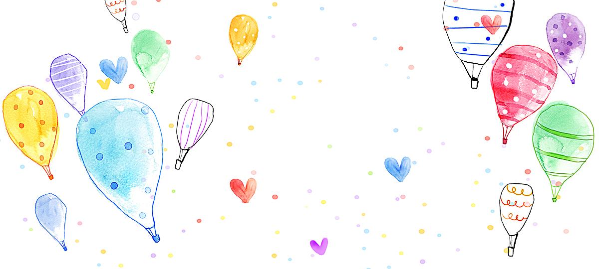 手绘气球背景