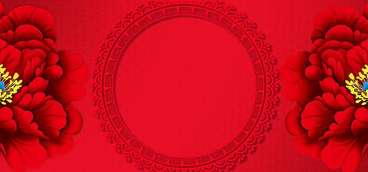 红色新春背景