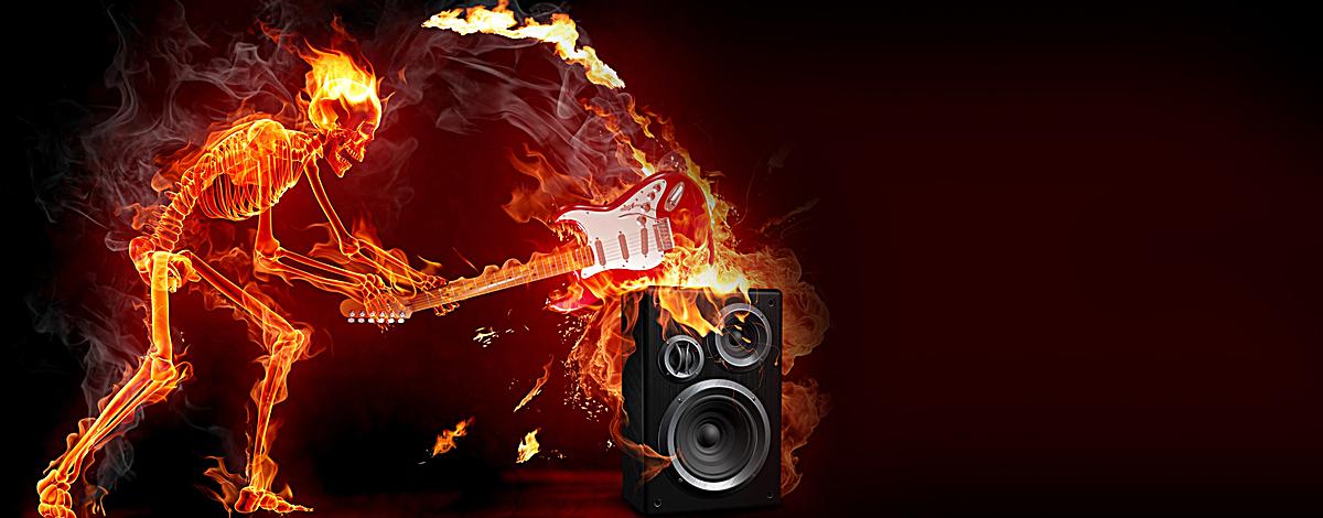 火焰骷髅酷炫背景图片背景素材免费下载,图片编号 ...