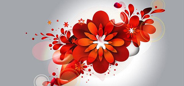 鲜花盛开高清背景素材下载 千库网