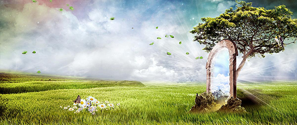 春天创意海报psd素材-90设计图片