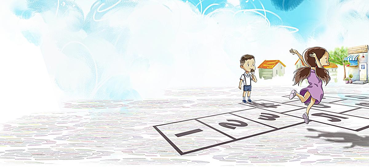千库网 海报banner 卡通/ 童趣 / 手绘  尺寸:1920*872 像素 2446 953